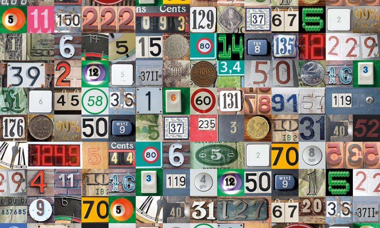 Keukenwand - Numbers