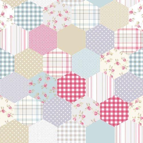 Spatwand met print - Hexagon Patel Tegels