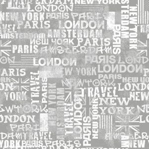 Spatwand met print - Wereld Steden