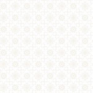 Kinderbehang Puck & Rose - Bloemmotief Wit/Beige