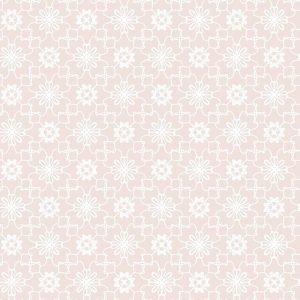 Kinderbehang Puck & Rose - Bloemmotief Roze