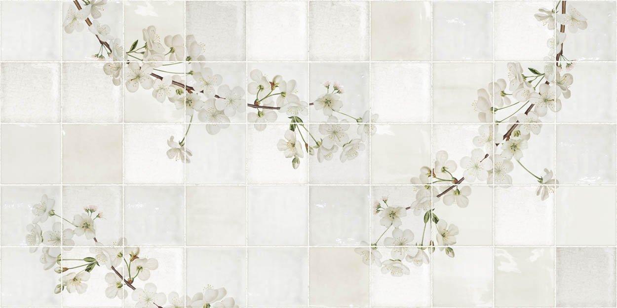 Antiek Tegeldesign met Blossom