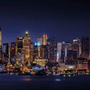 Keukenwand - New York By Night