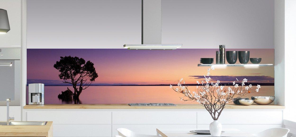 Keukenwand - Purple Sunset