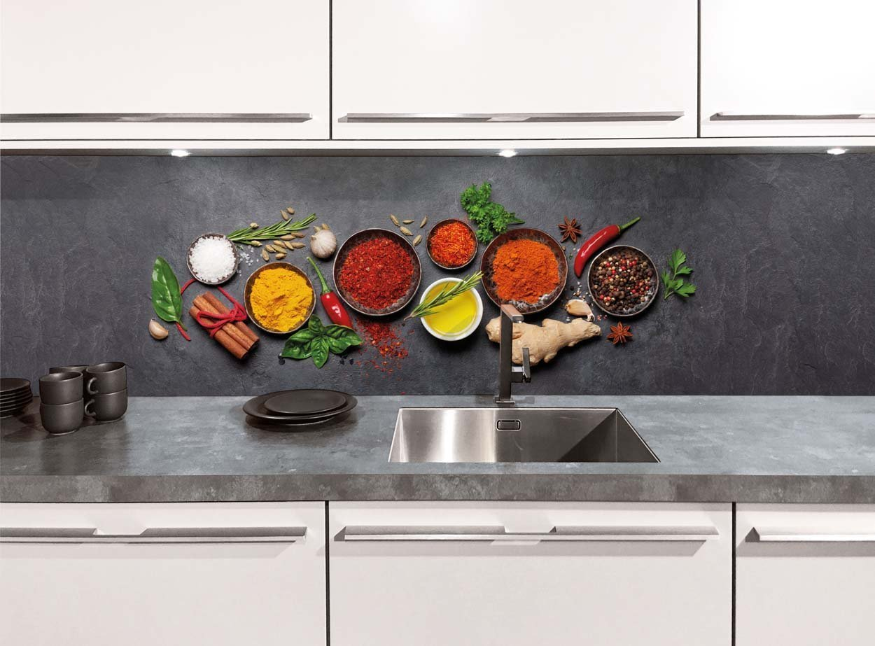 Keukenwand - Kruidenpotjes