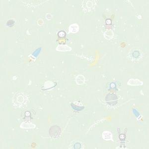 Kinderbehang Galaxy Groen