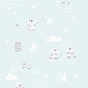 Kinderbehang Arctic Blauw