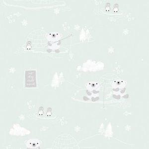 Kinderbehang Arctic Groen