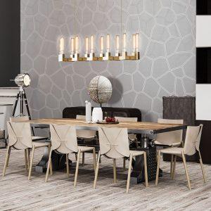 Behang Timeless - Honeycomb Grey
