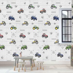Kinderbehang Abby & Bryan - Tily tractor