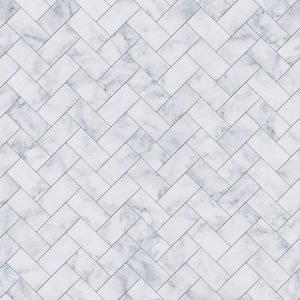 Keukenwand - Marmer Tegels Vissengraat