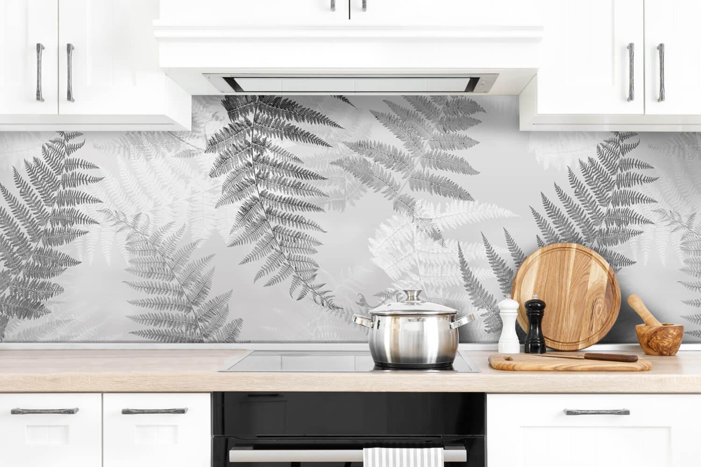 Keukenwand - Grijze Varens