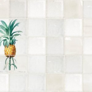 Keukenwand met print - Antiek Tegel Design - Ananas