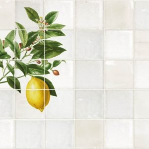 Keukenwand met print - Antiek Tegel Design - Citroen