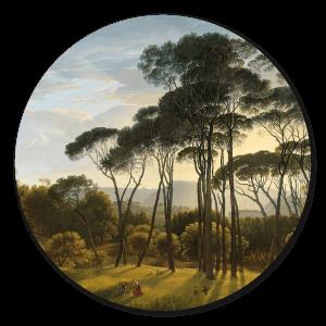 Muurcirkel Landschap met bomen