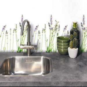 Keukenwand met print - Kalmerend Lavendel
