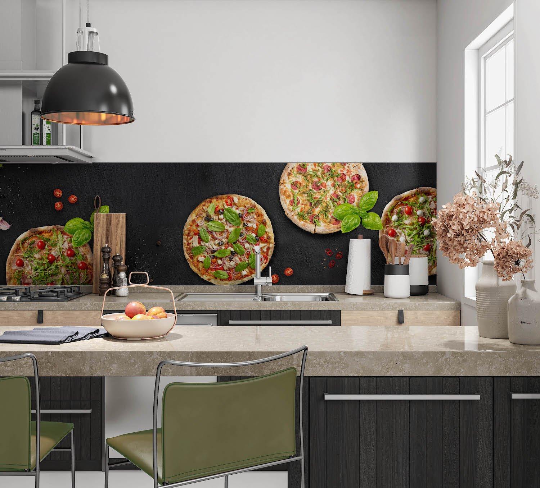 Pizza en beton spatwand
