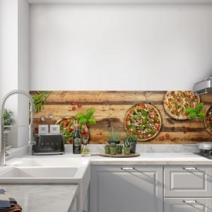 Pizzzzza op hout - Spatwand