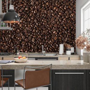 Koffiebonen Achterwand