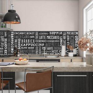 Koffie koffie koffie - Achterwand