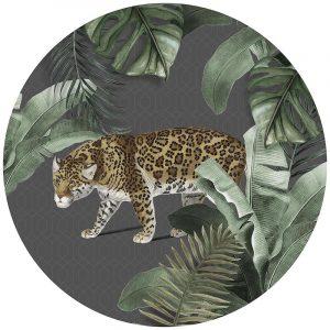 Muurcirkel - Vintage Tiger Gray