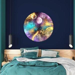 Muurcirkel - Galaxy Six