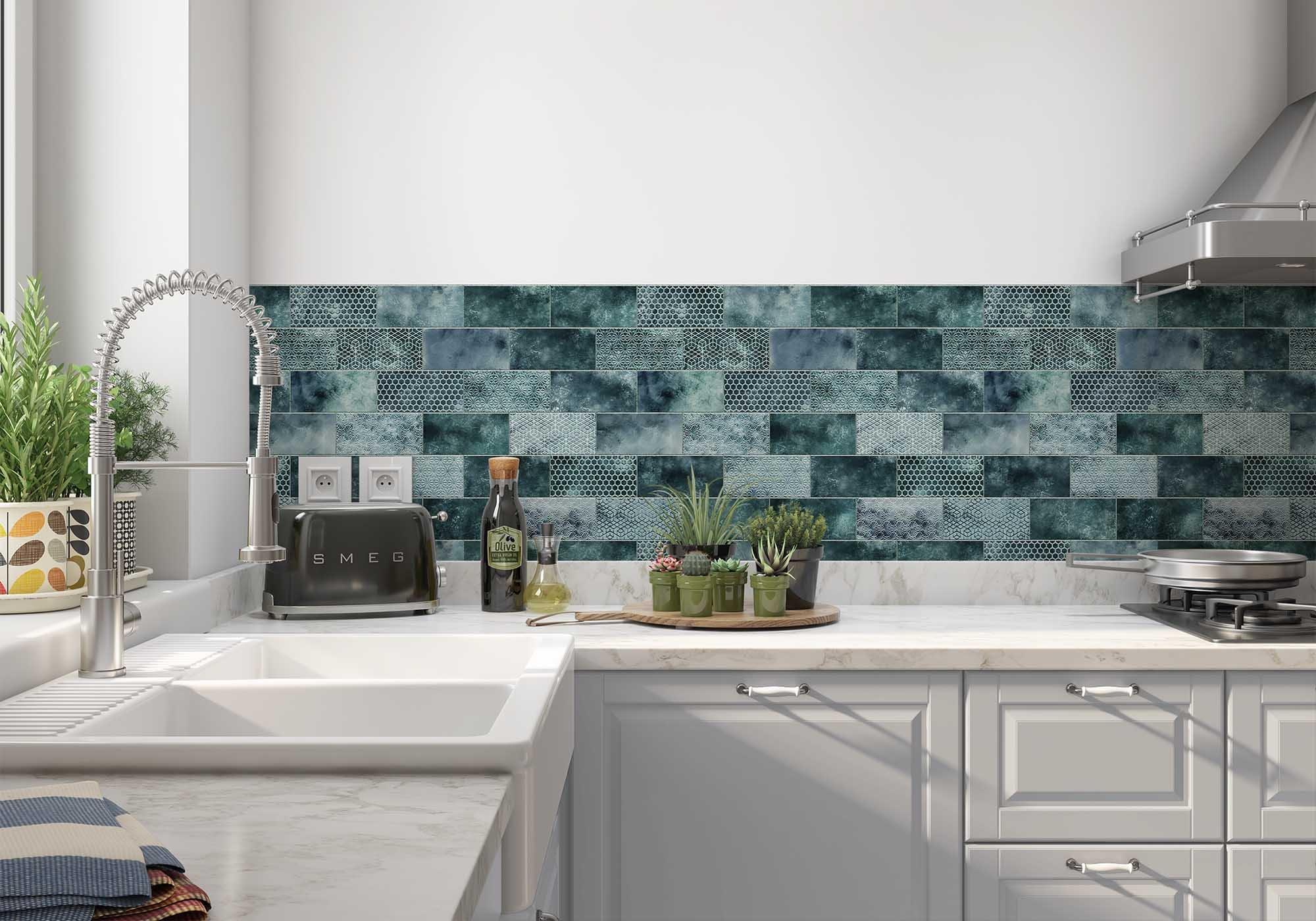 Keukenwand met print - Tiless Pattern
