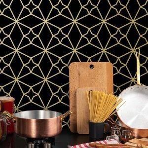 Keukenwand met print - Fez Dark