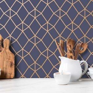 Keukenwand met print - Nador Blue