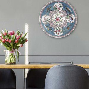 Muurcirkel - Wanddeco Bord - Floral China